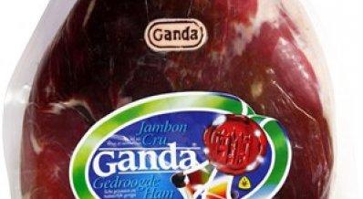 Ganda Ham ontzwoerd zonder schenkel