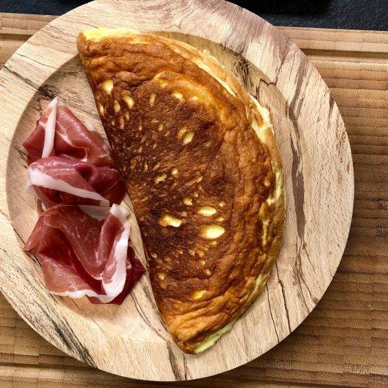 Omelette soufflé met Ganda Ham