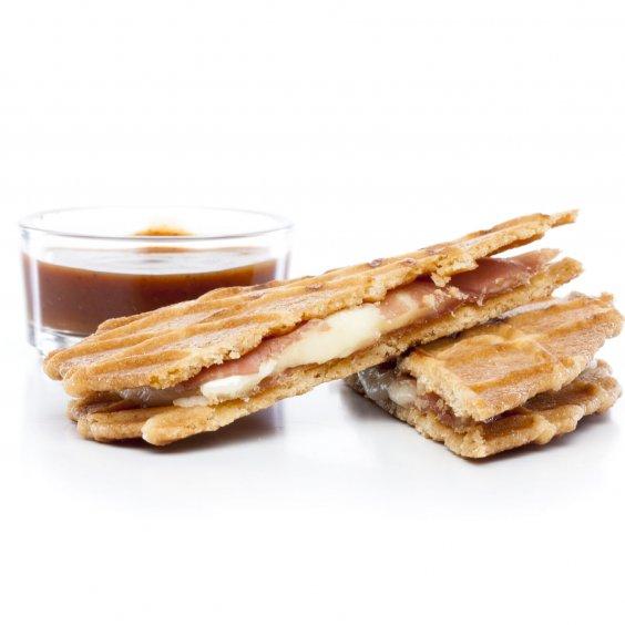 Croques-Jules au jambon Ganda, au Brie et à la sauce barbecue